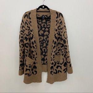 Windsor Chunky Knit Leopard Knit Cardigan